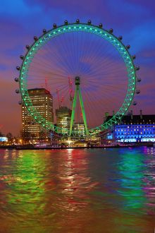 London Eye goes green for St Patrick's Day